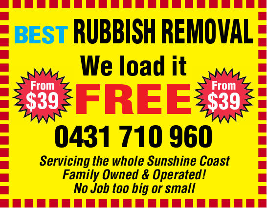 From $39 From $39 We load it FREE  0431 710 960    Servicing the whole Sunshine Coast...