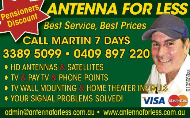 Best Service, Best Prices   Call Martin 7 Days   HD ANTENNAS & SATELLITES   TV &a...