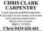 CHRIS CLARK CARPENTRY