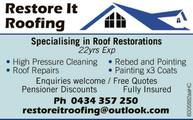 Specialising in Roof Restorations  22yrs Exp High Pressure Cleaning  Roof Repairs ...