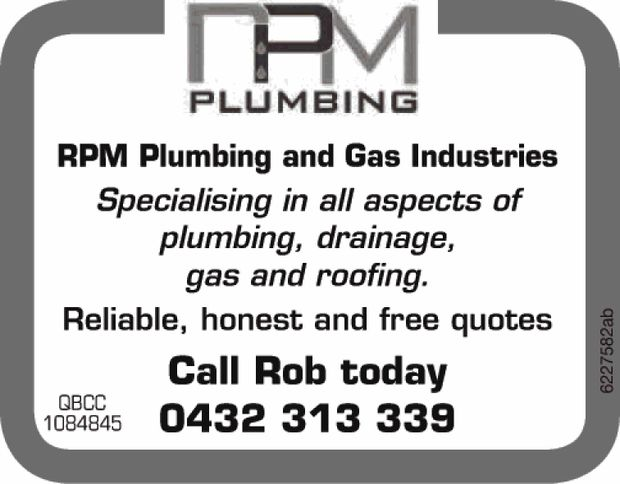 Specialising in all aspects of plumbing, drainage, gas and roofing   Reliable, honest and fre...