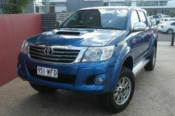 2012 Toyota Hilux KUN26R MY12 SR5 Double Cab Blue Metallic 5 Speed Manual Utility