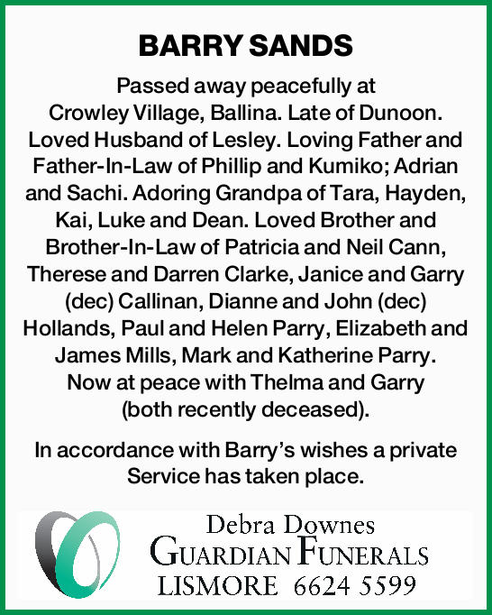 BARRY SANDS