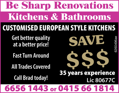 CUSTOMISED EUROPEAN STYLE KITCHENS Get better quality at a better price!     Cus...