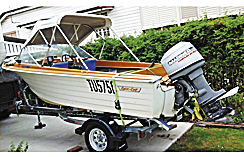 14FT CRUISE CRAFT Fibreglass hull. Near new Dunbier trailer, fish finder, Radio, 2 fuel tanks, li...
