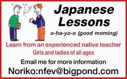 o-ha-yo-o (good morning)    Learn from an experienced native teacher Girls and ladies of all...