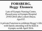 FORSBERG, Heggy Eleonora
