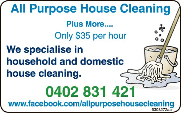ONLY $35 PER HOUR   WE SPECIALISE IN HOUSEHOLD& DOMESTIC HOUSE CLEANING   www.f...