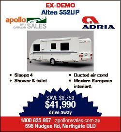 EX-DEMO Altea 552UP * Sleeps 4 * Shower & toilet * Ducted air cond * Modern European interiors S...