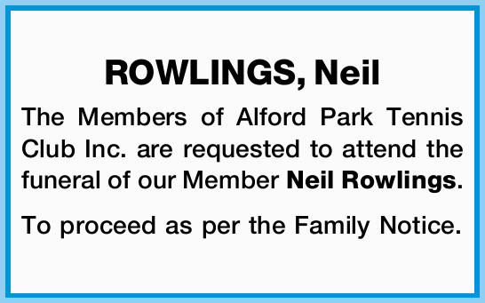 ROWLINGS, Neil