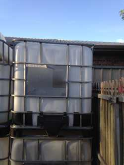 3 X 1000 Lt  IBC. Rain Water Tanks