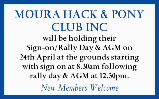 will be holding their Sign-on/Rally Day & AGM on 24th April at the grounds starting wit...