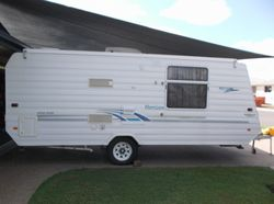 With awning, ensuite, air cond., T.V., inc:- cutlery & other extra's.  First to view will purchase.