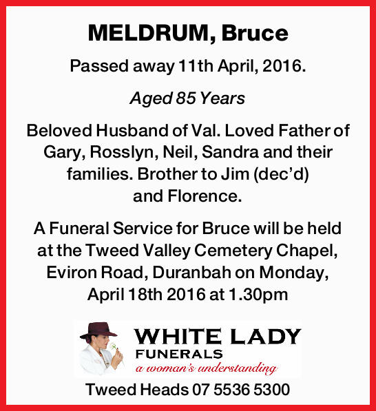 MELDRUM, Bruce