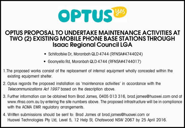 Isaac Regional Council LGA Schifcofske Dr, Moranbah QLD 4744 (RFNSA#4744024) Goonyella Rd,...