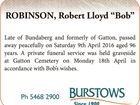"ROBINSON, Robert Lloyd ""Bob"""