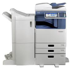 Toshiba e Studio 3555c. Print, scan, copy, email. Produce flyers, brochures, posters or banners....