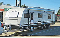LATE 2014 REGAL 28ft, suit new buyer. Luxury built semi off roader, 2x AC, 185L fridge, leather l...