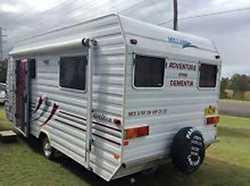 "MILLARD HORIZON 17' 6"" single beds, deep freeze, micro, air con, fridge, new tyres, ro..."