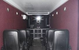 Manufactured from a 40ft Shipping Container   Includes:   8 Seater Media End 60&quo...