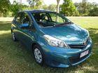 2011 Toyota Yaris NCP90R YR Blue Manual Hatchback
