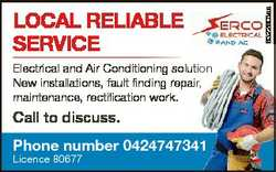 Electrical and Air Conditioning solution New installations, fault finding repair, maintenance, recti...
