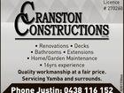 CRANSTON CONSTRUCTIONS