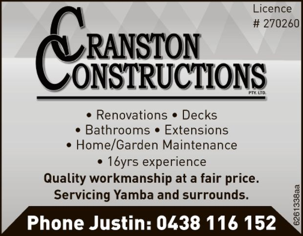 Quality workmanship at a fair price. Servicing Yamba and surrounds.