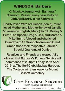 """WINDSOR, Barbara Of Mackay, formerly of """"Balmoral"""" Clermont. Passed away peacefully on 25t..."""