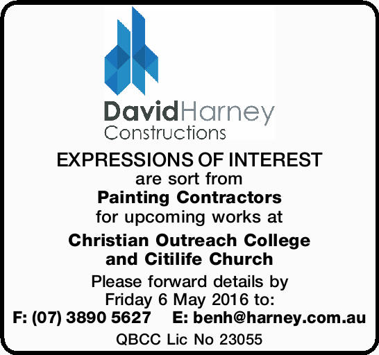 EXPRESSIONS OF INTEREST