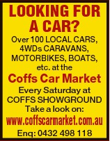 Over 100 LOCAL CARS, 4WDs CARAVANS, MOTORBIKES, BOATS, etc. at the Coffs Car Market