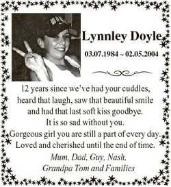12 years since we've had your cuddles, heard that laugh, saw that beautiful smile and had that l...