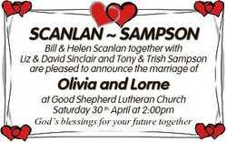 SCANLAN  SAMPSON Bill & Helen Scanlan together with Liz & David Sinclair and Tony & Tris...