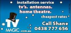 tv's. antennas. home theatre. cheapest rates .com.au Call Shane 0438 777 656 6330911aa installat...