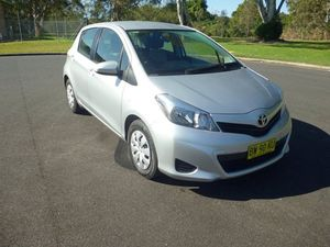 2013 Toyota Yaris NCP130R YR Silver 4 Speed Auto Active Select Hatchback