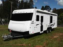 JAYCO Silverline 24-75-2 24ft caravan, 5mths old, as new, every luxury, solar, slide-out bed, ful...