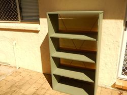 clean gc back brace, timber rail at back stops items from  leaning against wall /dropping off, elder...