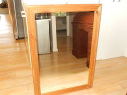 nat.timber frame, hang either way ,price incl.lge black ikea frame picture 70x50