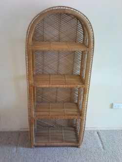 Four shelves.  H 136cm W 56cm.