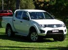 2013 Mitsubishi Triton MN MY13 GLX Double Cab White 5 Speed Manual Utility