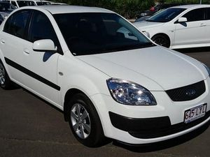 2008 Kia Rio JB EX White 4 Speed Automatic Sedan