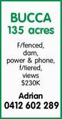 BUCCA 135 acres