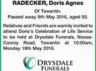 RADECKER, Doris Agnes