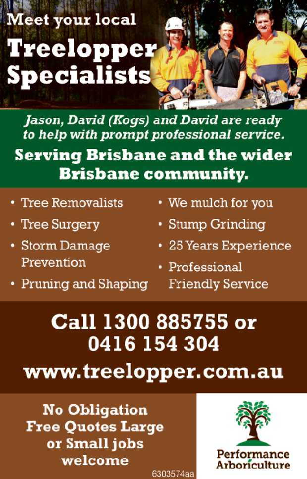 Gum and large tree specialist EXPERIENCED FULLY INSURED   Ph 1300 885 755 or 3298 5005   ...