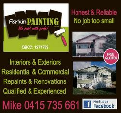We paint with pride! Honest & Reliable No job too small QBCC: 1271753 Interiors &...