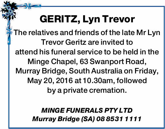 GERITZ, Lyn Trevor