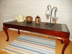 top, tile inserts.restored,solid oz made, great side table easy clean, pot plants,1060x400x400 high,...