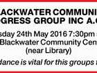BLACKWATER COMMUNITY PROGRESS GROUP INC A.G.M.