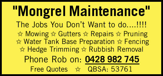 """Mongrel Maintenance"" The Jobs You Don't Want to do....!!!!