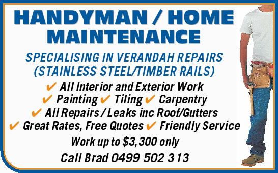 SPECIALISING IN VERANDAH REPAIRS
